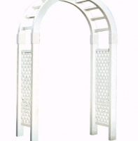 White Lattice Archway