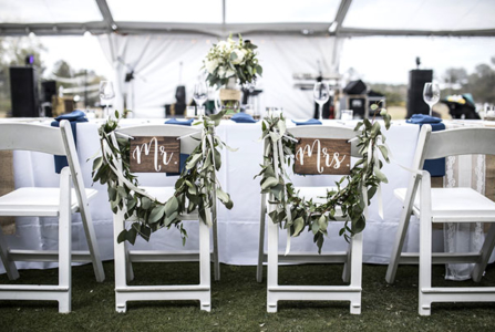Chairs and Tables: Outdoor Wedding Rental Staples