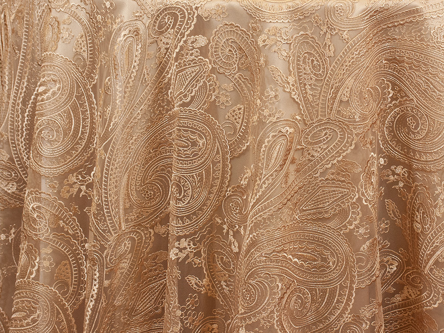 Champagne Paisley Lace