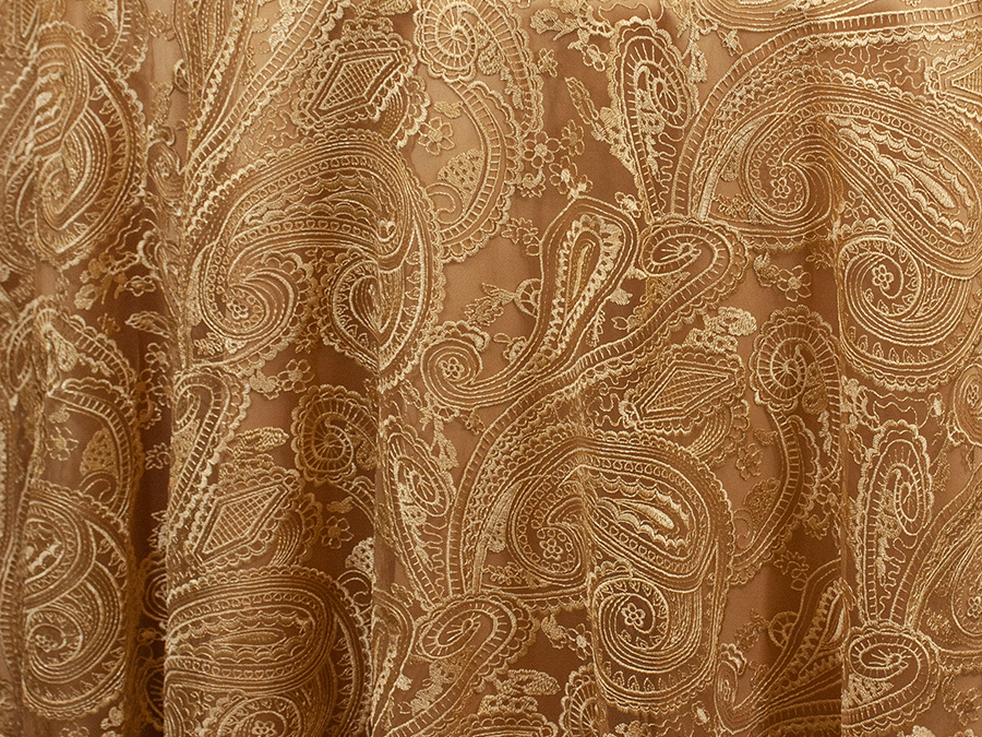 Gold Paisley Lace