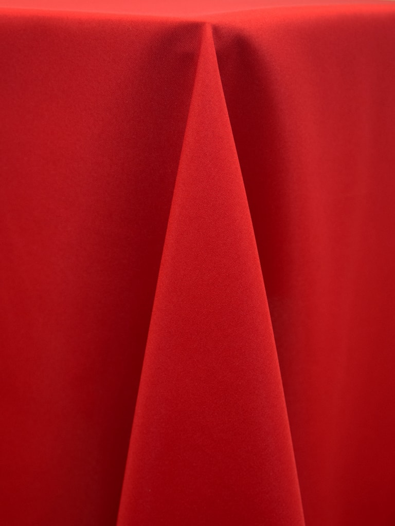 Holiday Red Polyester Solid